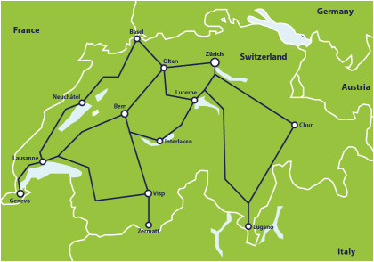 Italy Rail Map Detailed Switzerland by Train From 307