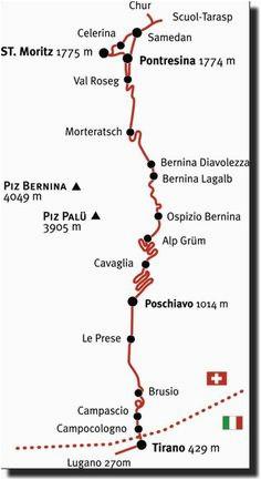 bernina express scenic train route in 2019 italy bernina express