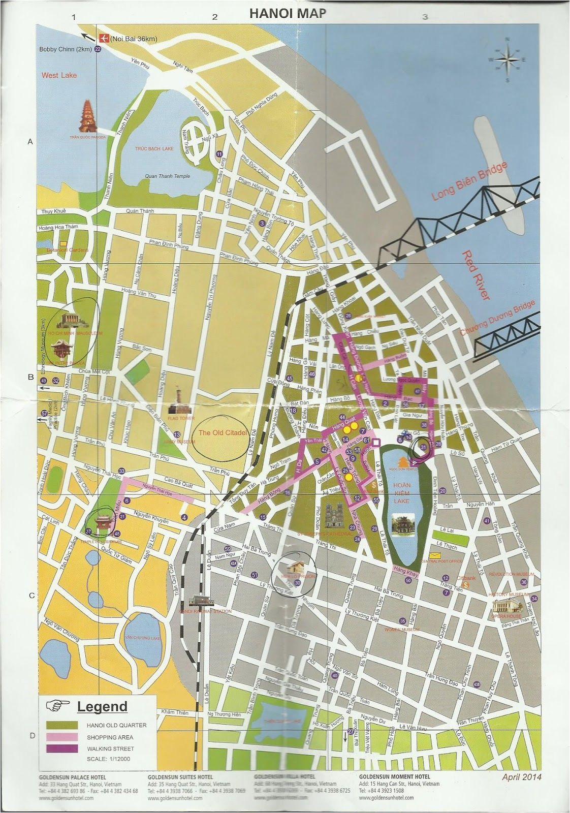 hanoi tourist map vietnam tourist map hanoi vietnam vietnam