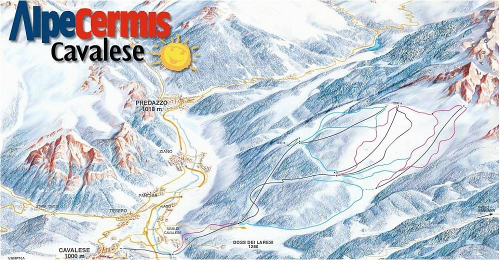 bergfex ski resort alpe cermis cavalese val di fiemme skiing
