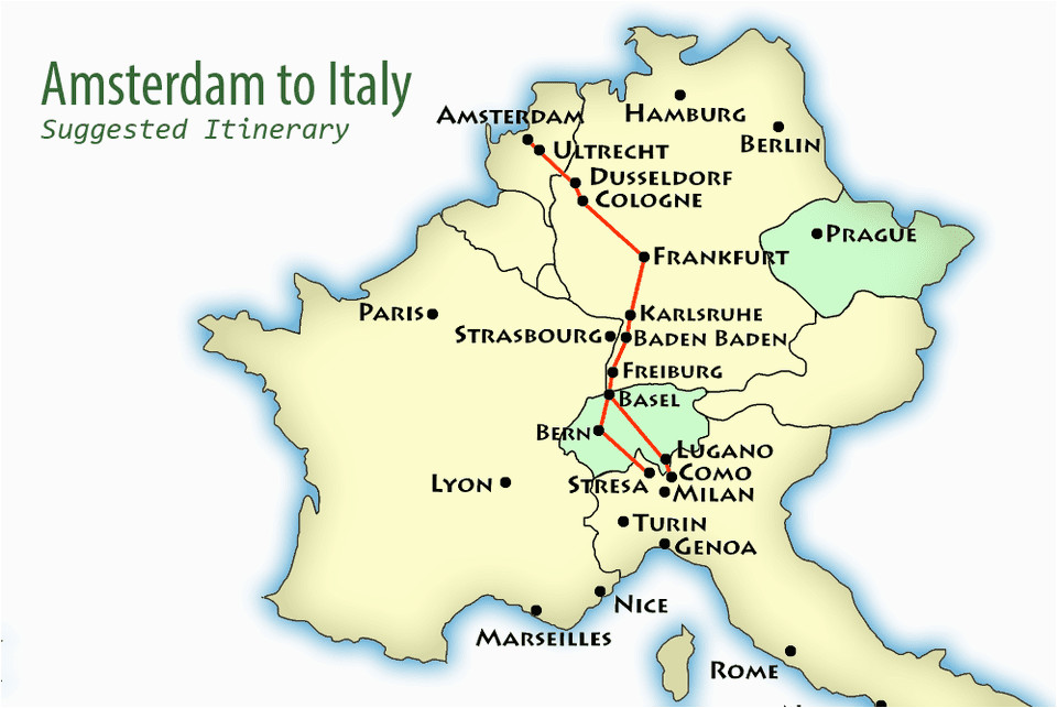 amsterdam to northern italy suggested itinerary