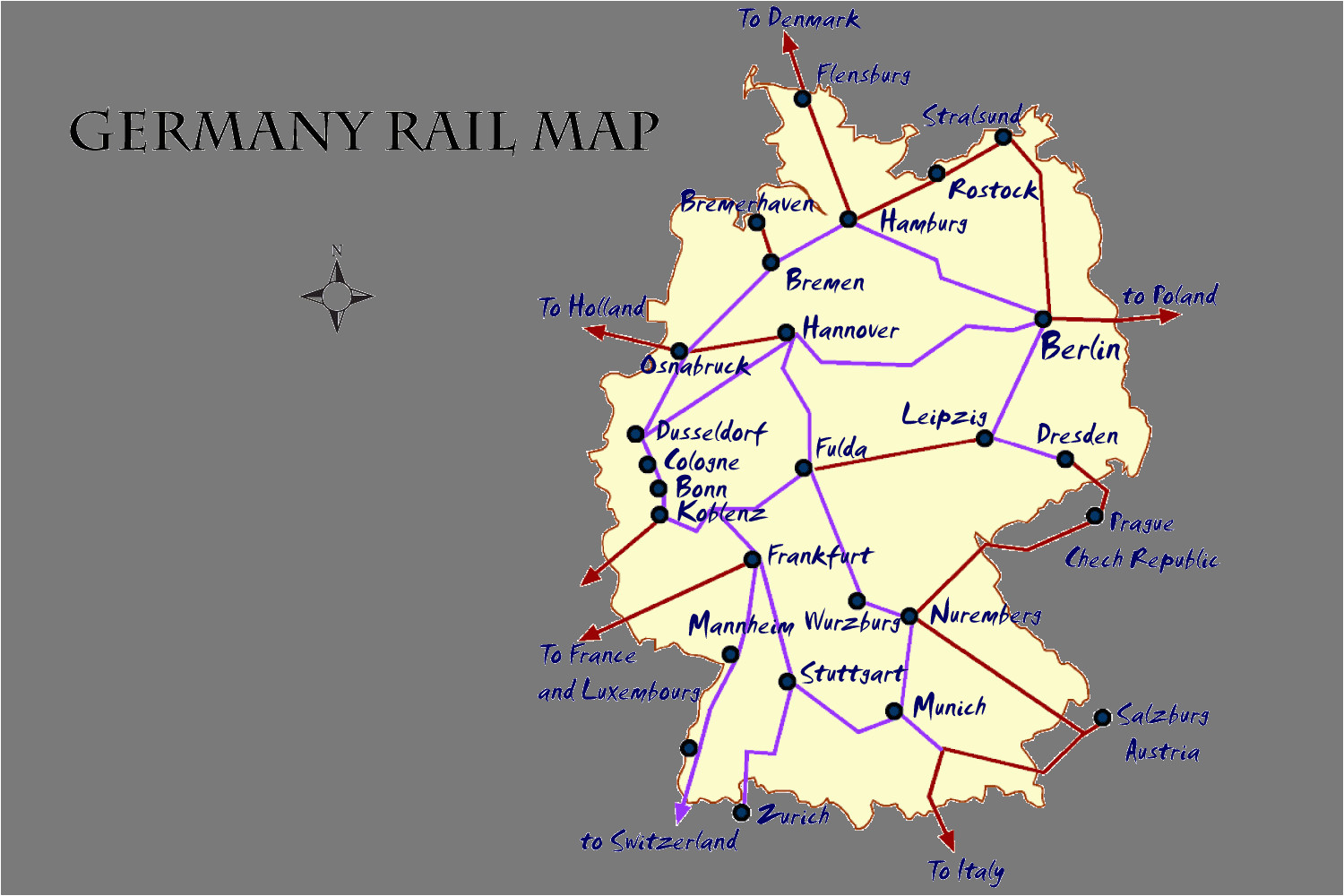 germany rail map and transportation guide