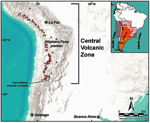 cerro blanco in central andes was largest volcanic eruption of last