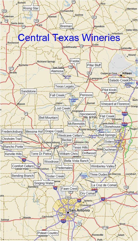 texas winery map central region dallas tx a a