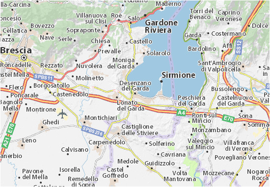 desenzano del garda map detailed maps for the city of desenzano del