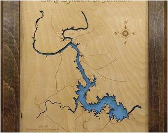 texas lake map etsy