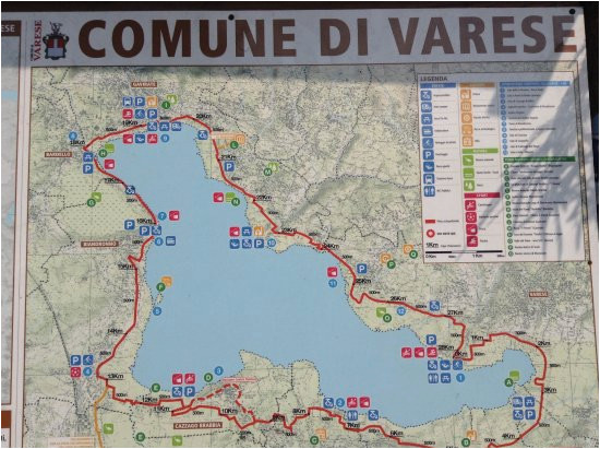 trail map picture of lake varese bicycle trail varese tripadvisor
