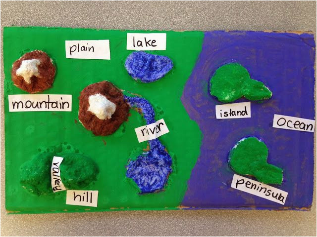 students create landforms maps using homemade clay mix together one