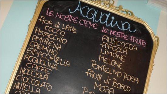 lavagna dei gusti picture of gelateria acquolina lucrezia
