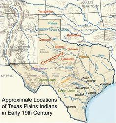 14 best maps showing lipan apache presence images maps texas maps