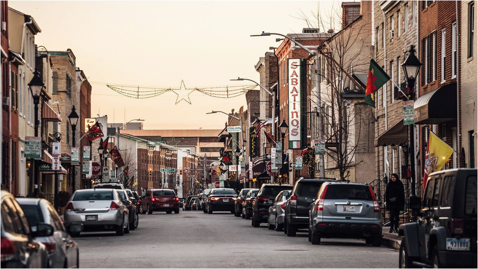 baltimore s little italy dining guide with a map