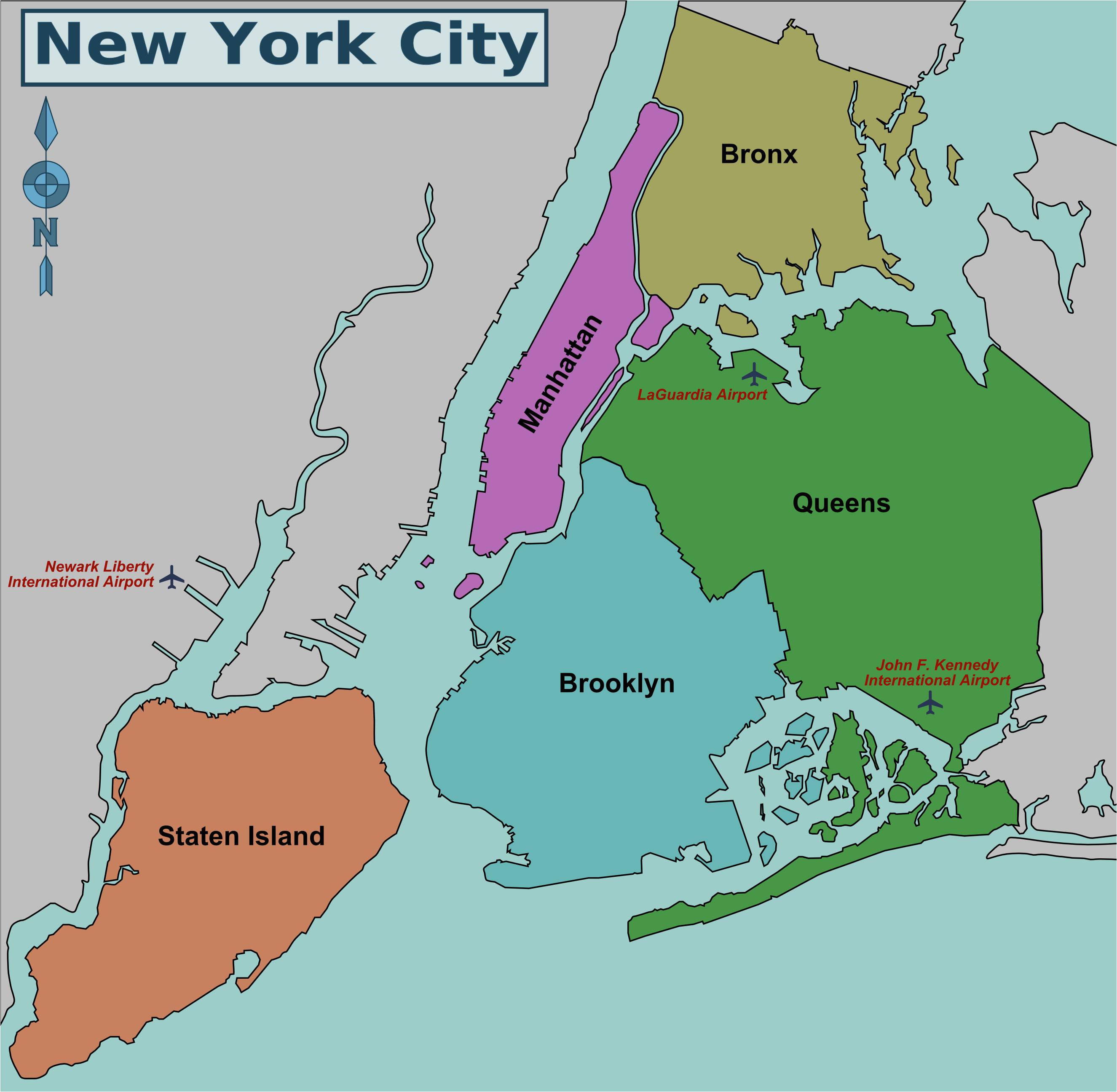 map of nyc 5 boroughs neighborhoods