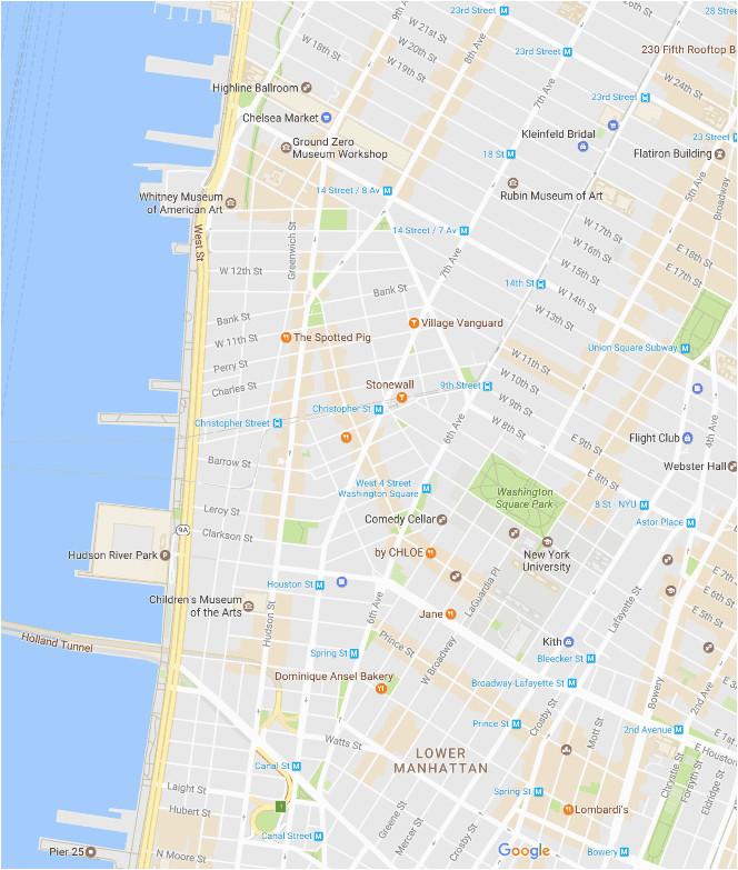 greenwich and west village neighborhood map