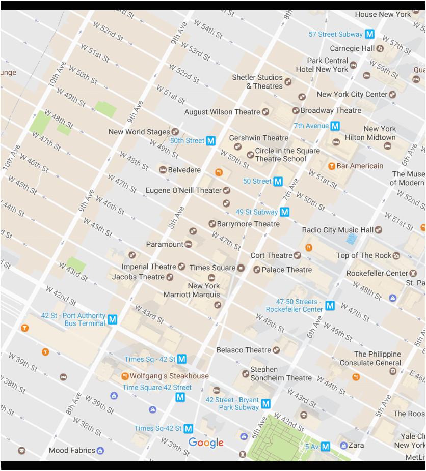 new york city times square neighborhood map