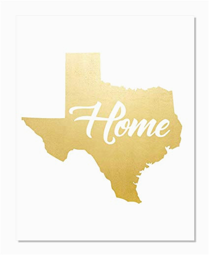 Map Card Austin Map Card Austin Texas Amazon Texas Map Gold Foil Print Poster