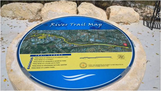 trail map picture of kerrville river trail kerrville tripadvisor