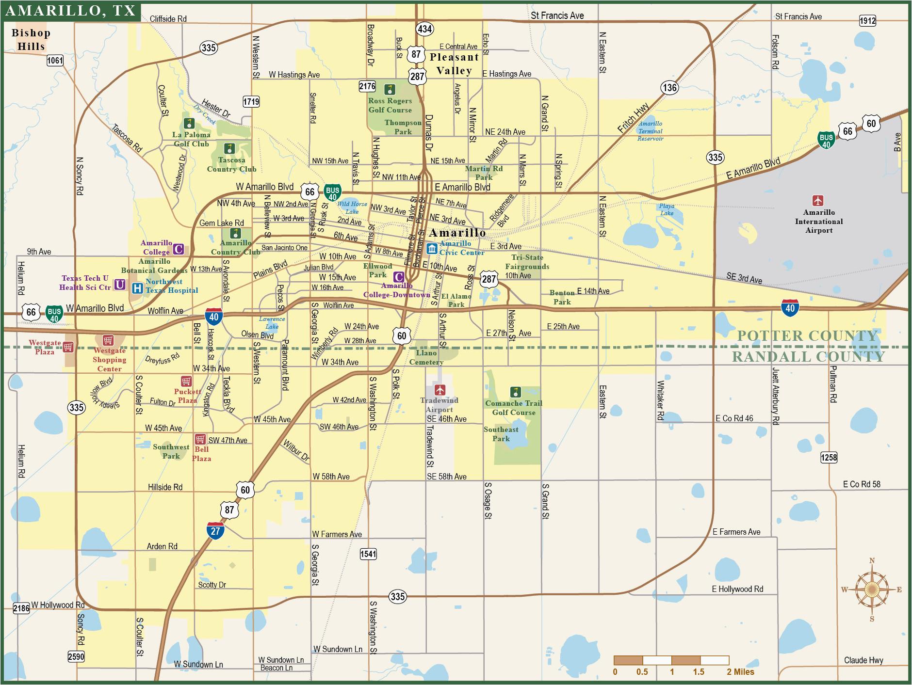Amarillo Zip Code Map Map Of Texas Showing Amarillo