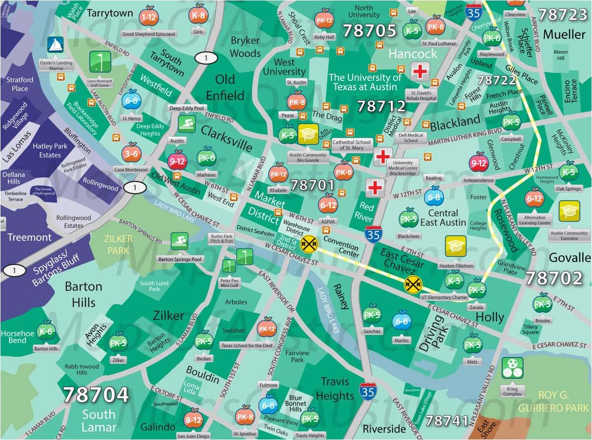 downtown austin tx downtown austin neighborhood map maps of