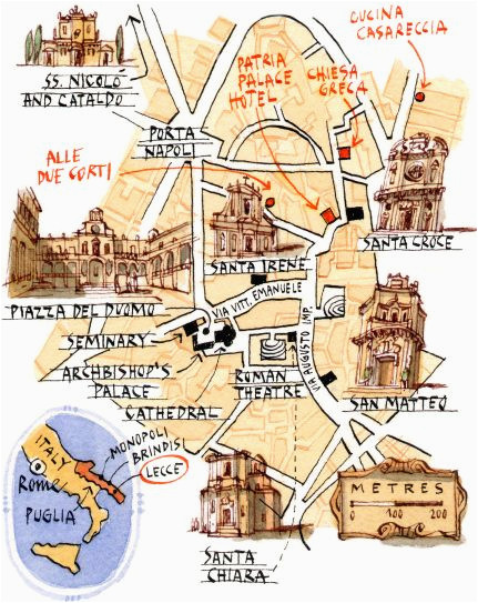 michele tranquillini map of lecce apulien lecce italy italy
