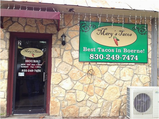 front entrace of mary s tacos in boerne texas picture of mary s