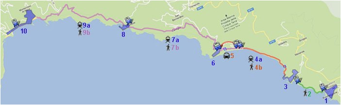 Map Of Cinque Terre Italy Cinque Terre Visit In One Day