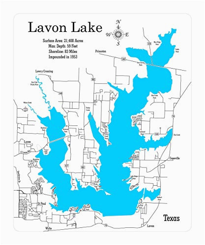 Map Of Clear Lake Texas Amazon Com Lavon Lake Texas Framed Wood Map Wall Hanging Handmade