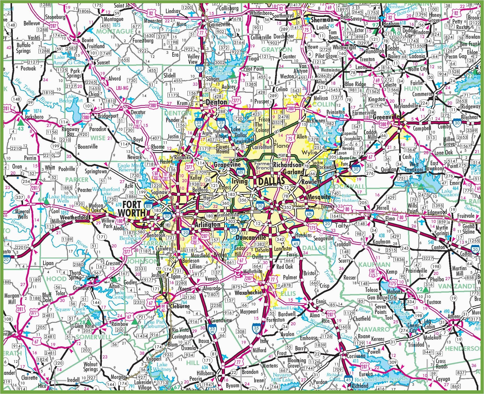 dallas area road map