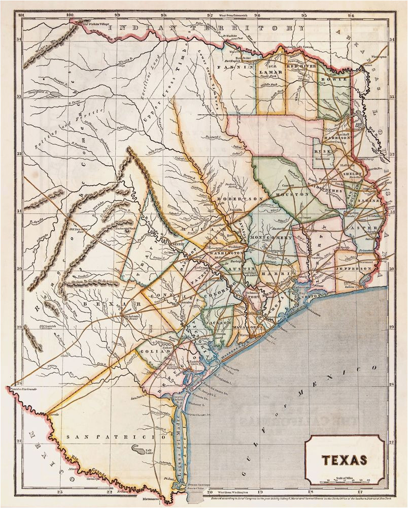 republic of texas by sidney e morse 1844 this is a cerographic