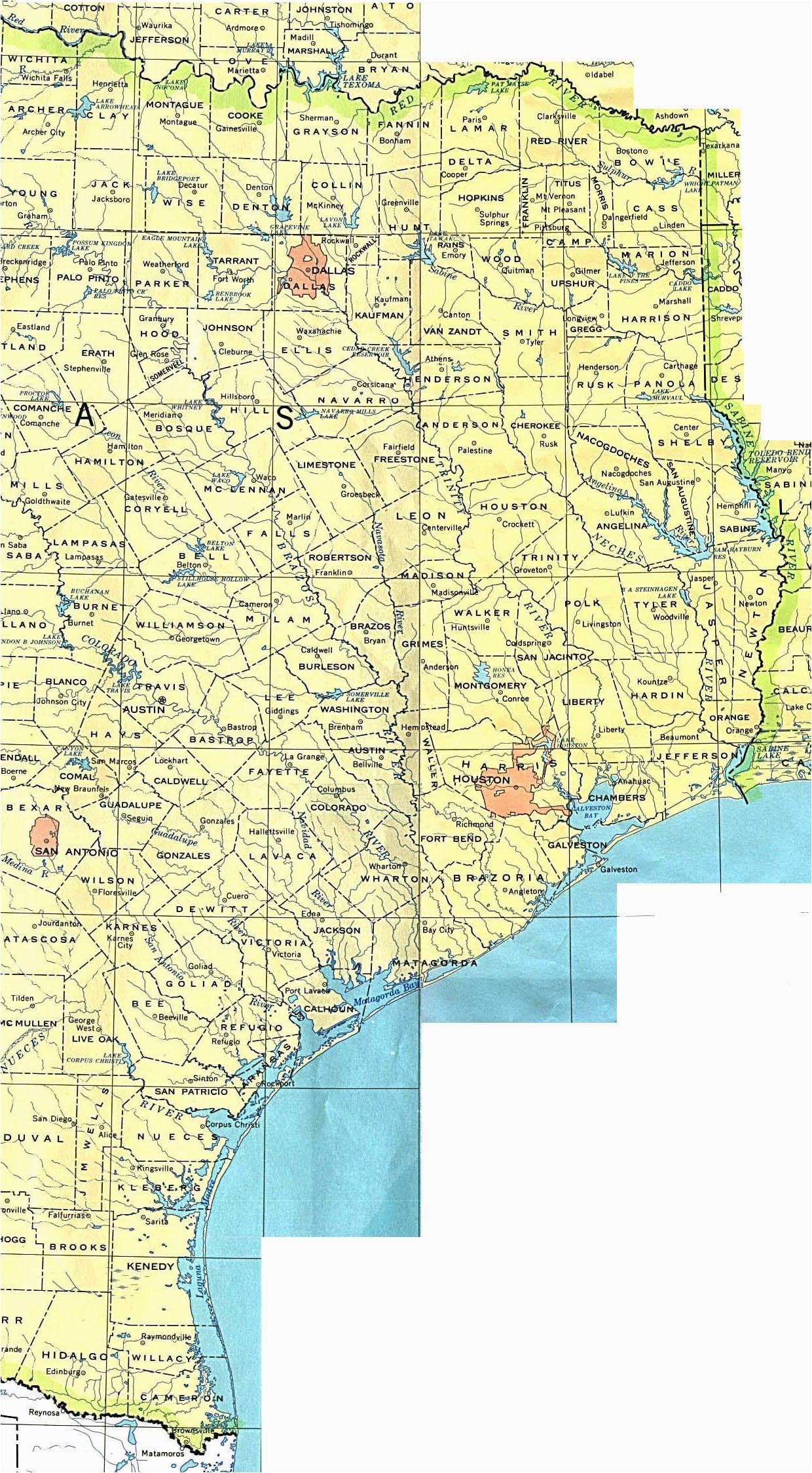 eastern texas map business ideas 2013