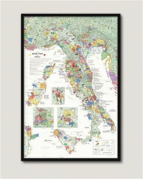 wine map of italy somm room italy map map framed maps