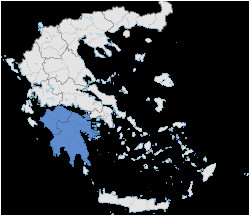 Map Of Italy and Greece area Peloponnese Wikipedia