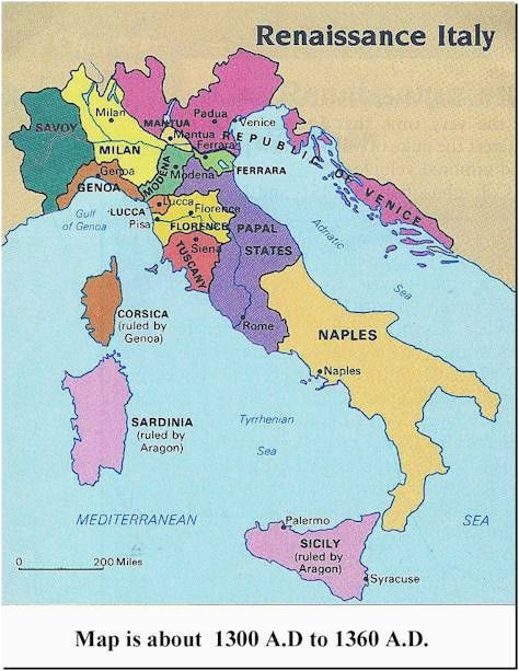 Map Of Italy And Islands.Map Of Italy And Islands Italy 1300s Medieval Life Maps From The