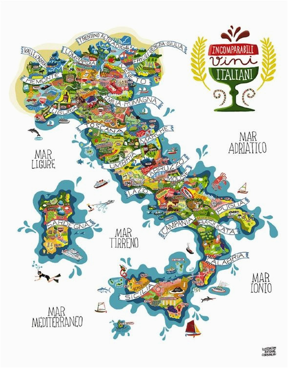 Map Of Italy Boot Italy Wines Antoine Corbineau 1 Map O Rama Italy Map Italian