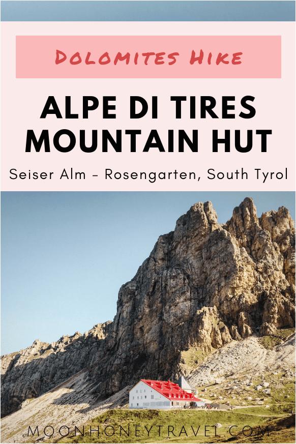 hiking to tierser alpl schutzhaus alpe di tires in the dolomites