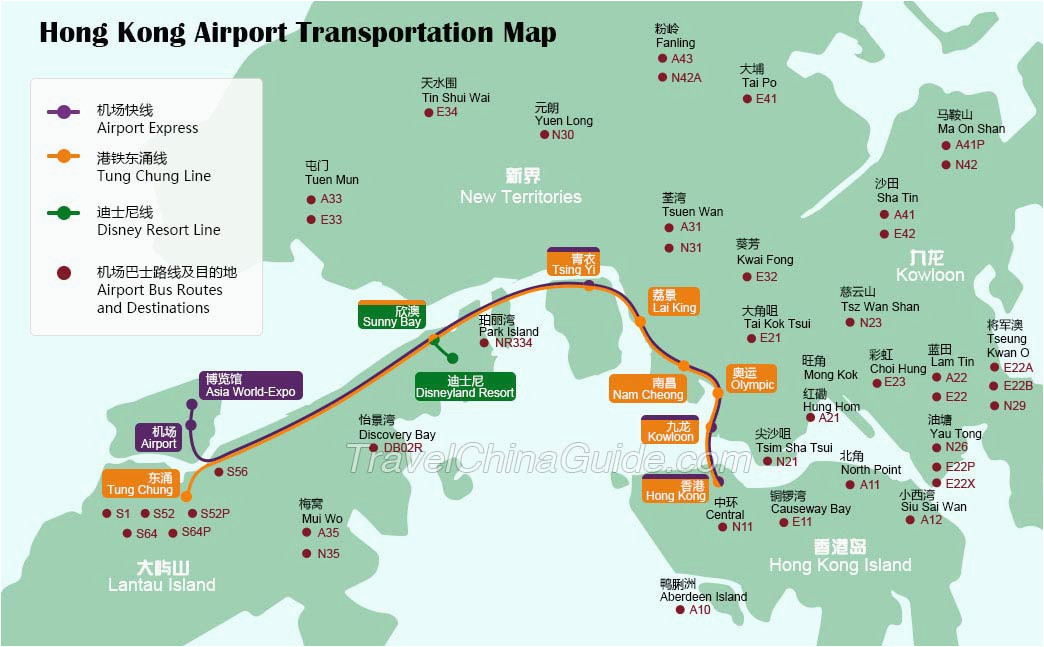 hong kong airport transfer map star ferry routes map