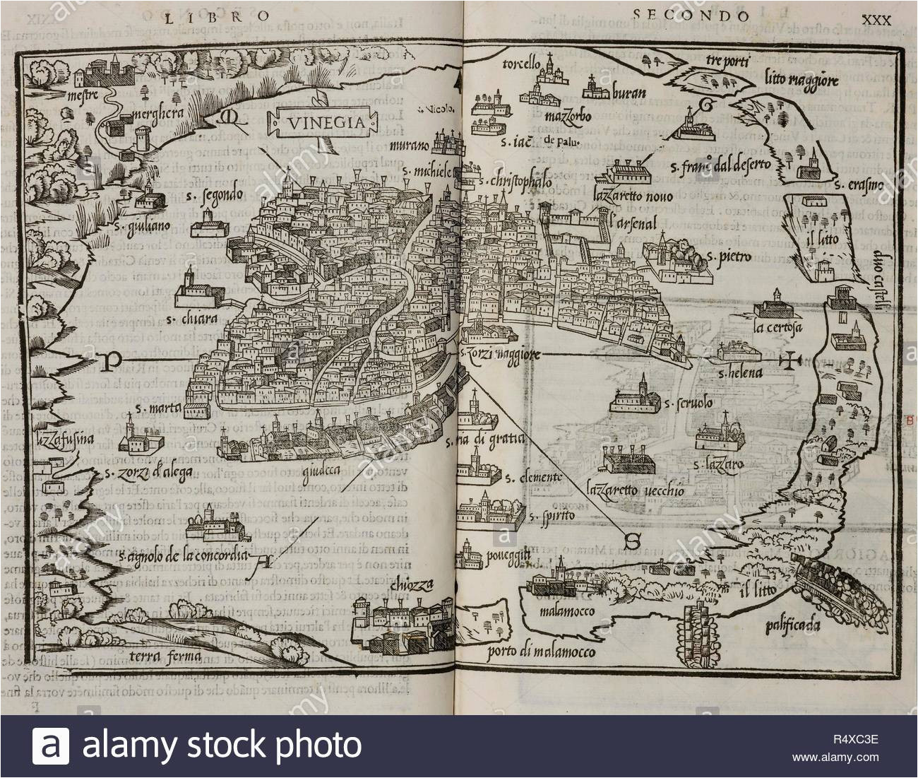 map of the city state of venice dated 1565 lagoon and islands in