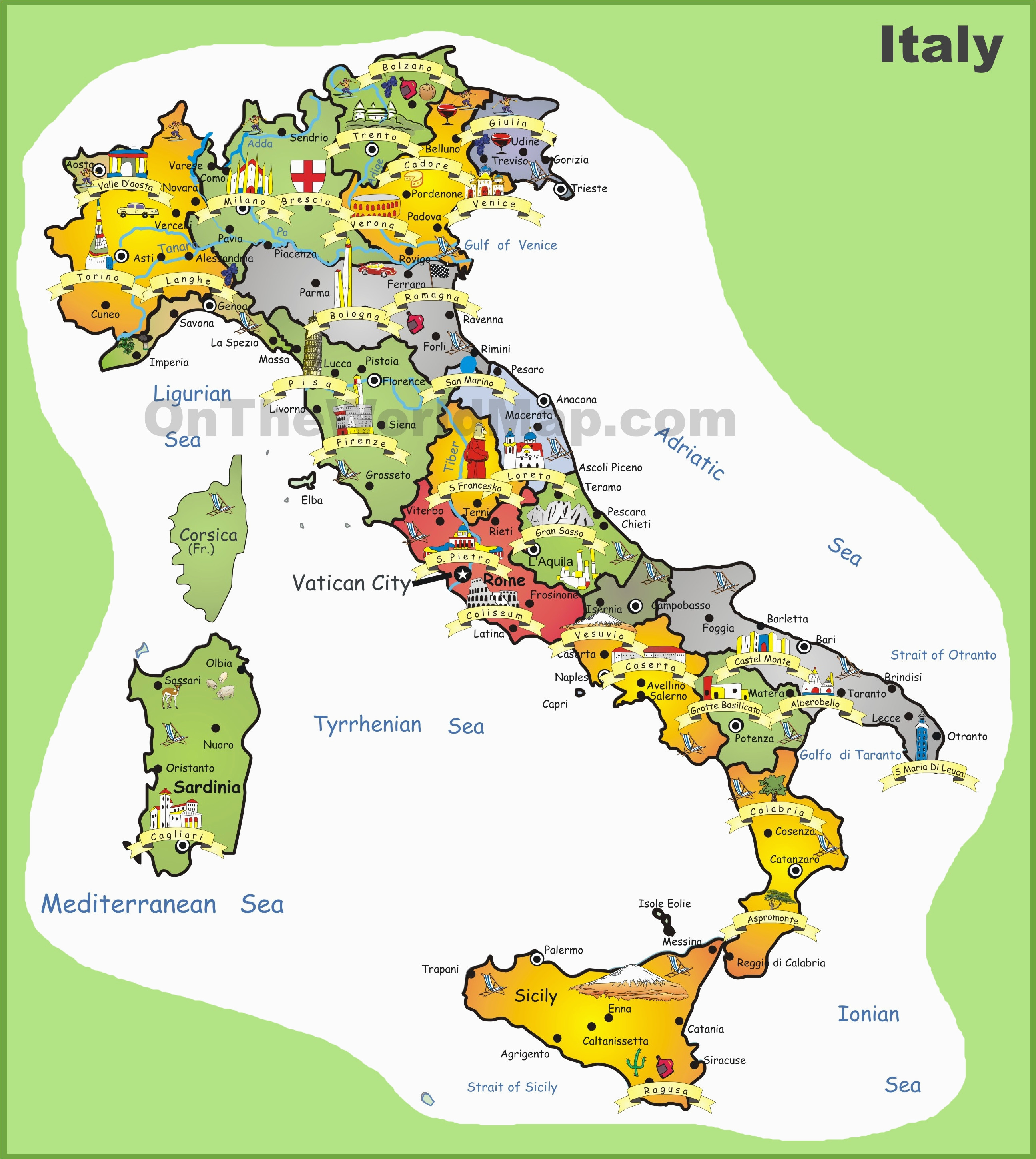 Map Of Italy tourist attractions | secretmuseum