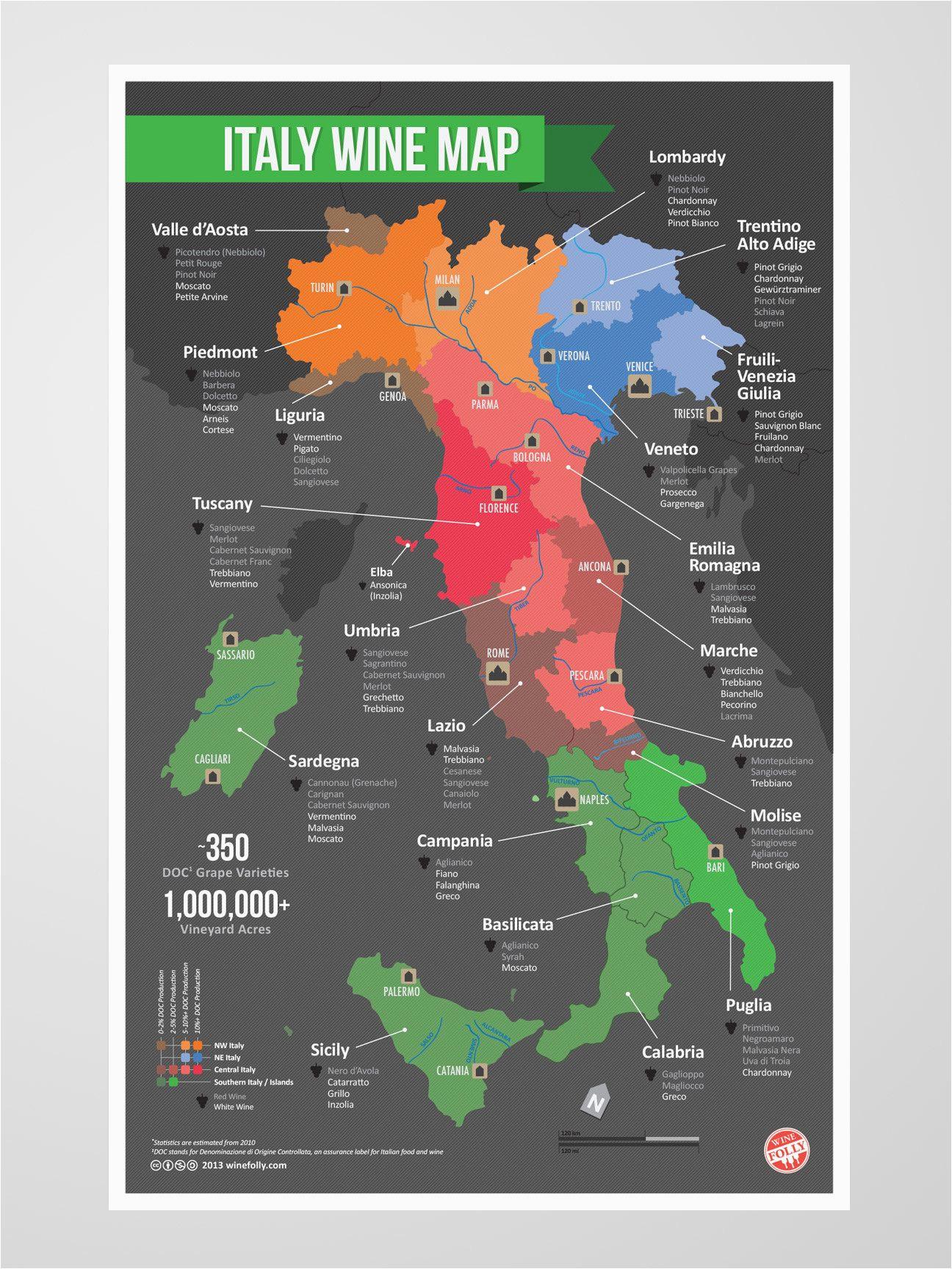 italy wine map italian everything wine folly italy map italian