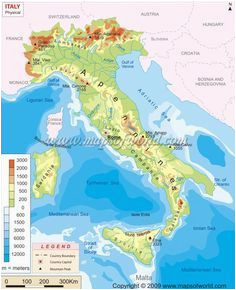 Map Of Italy with Rivers and Mountains Simple Italy Physical Map Mountains Volcanoes Rivers islands