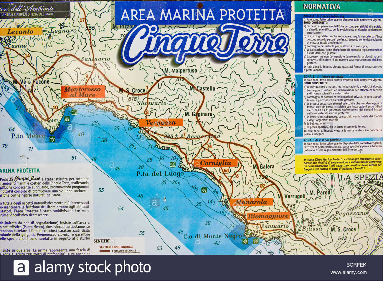 Map Of La Spezia Italy La Spezia Map Stockfotos La Spezia