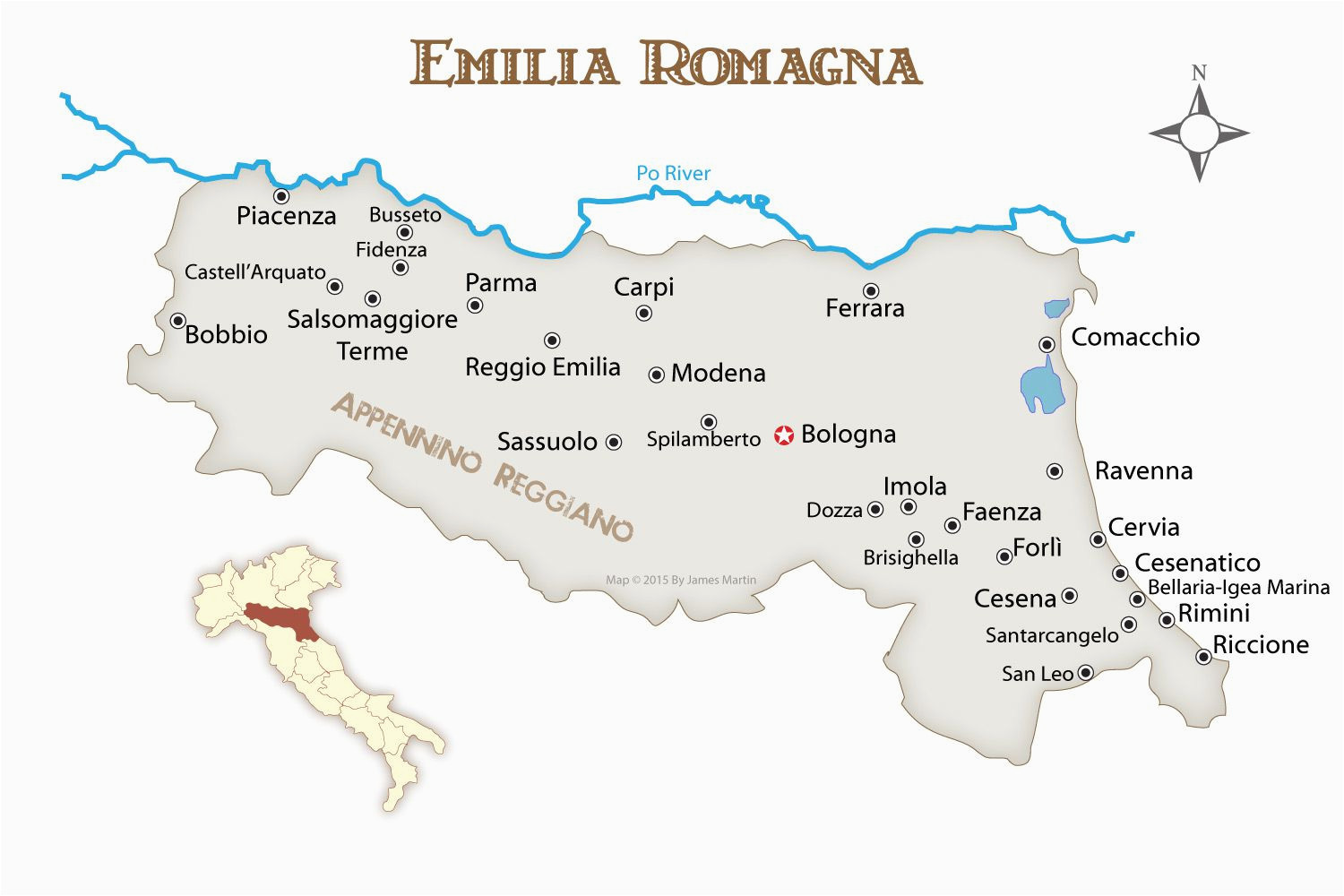 where to go in the emilia romagna region of italy