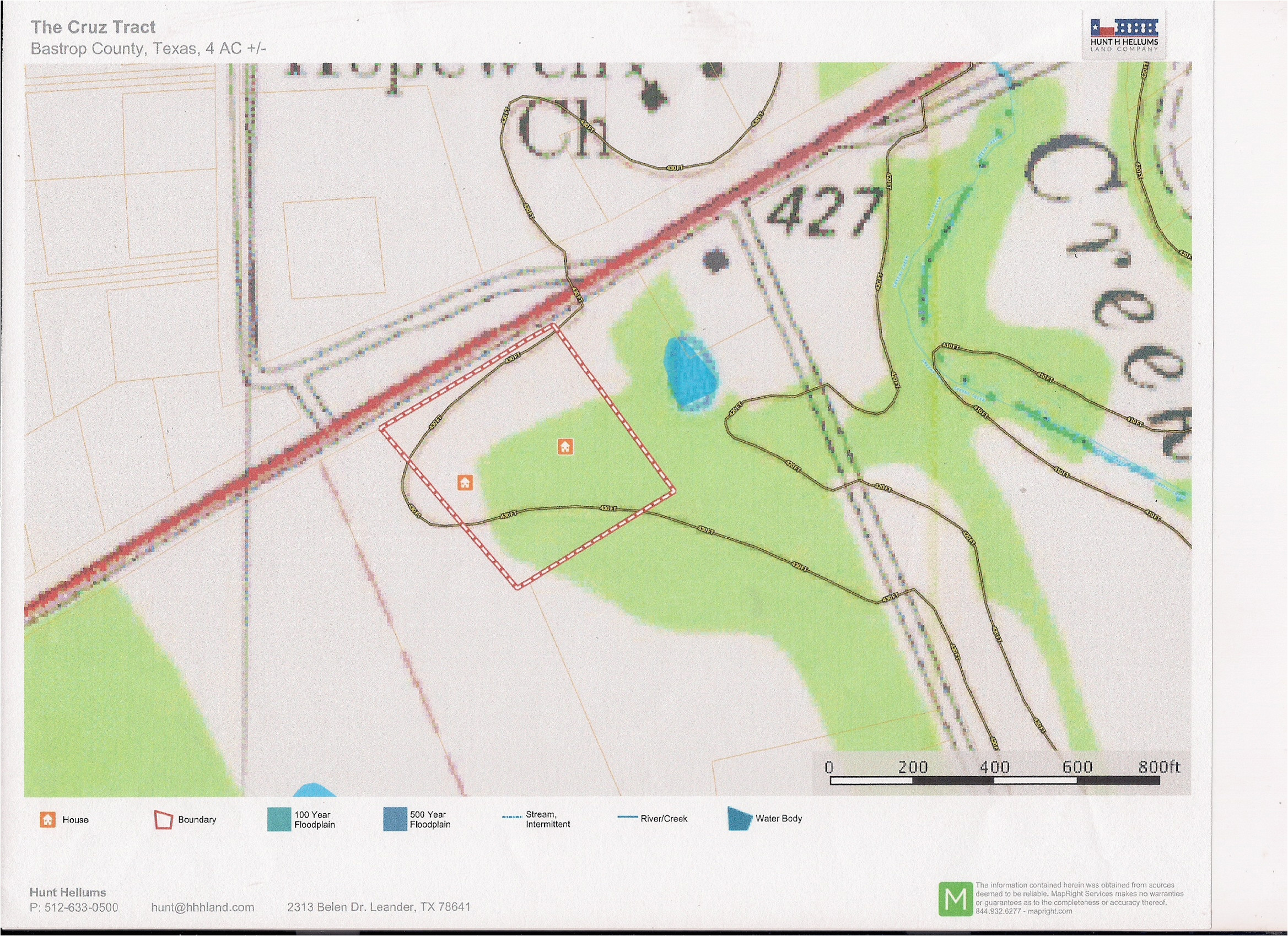 Map Of Leander Texas the Cruz Tract