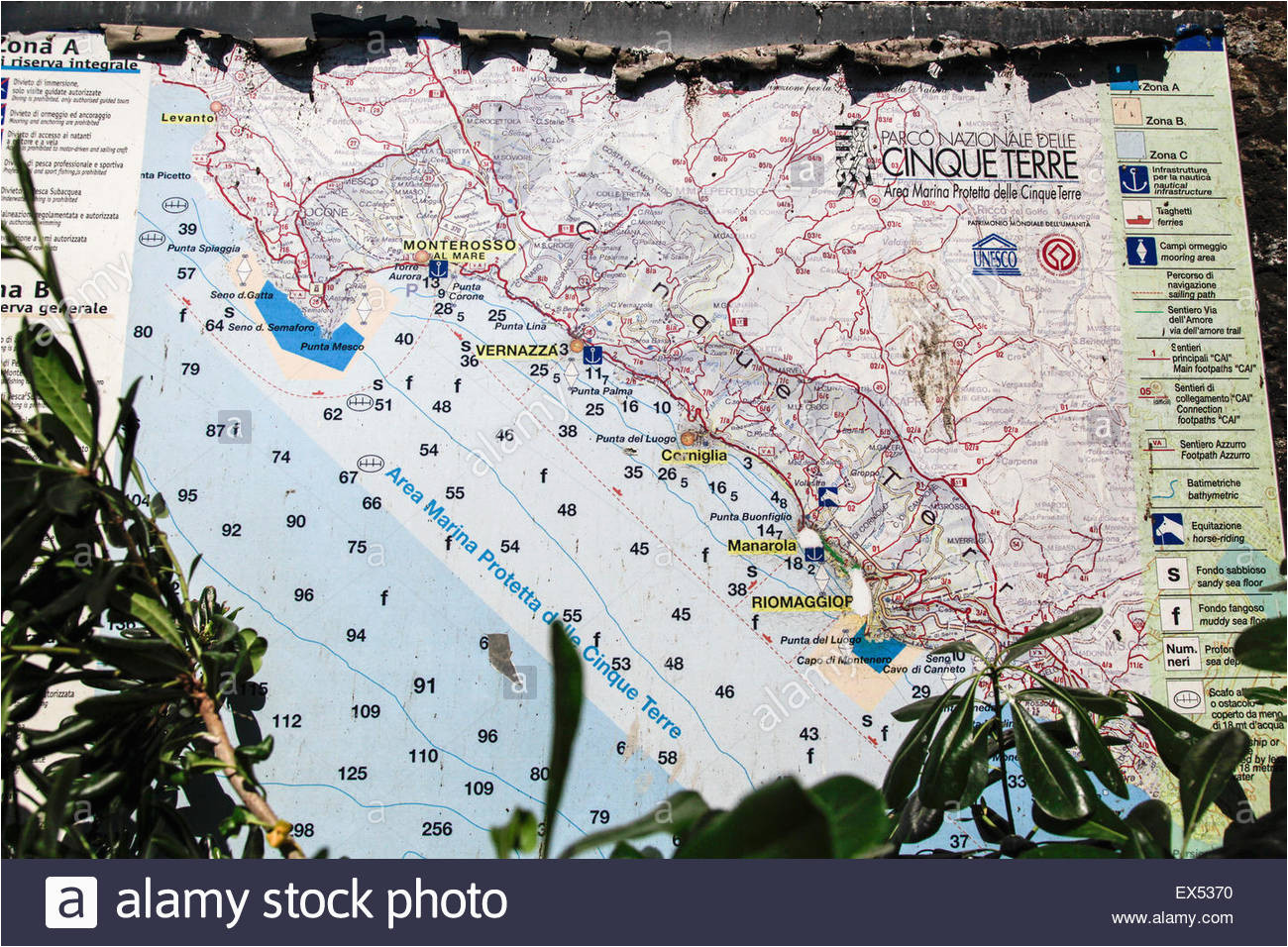 italian riviera map stock photos italian riviera map stock images