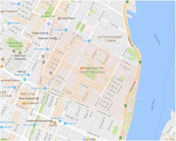 new york s chinatown and little italy neighborhood map