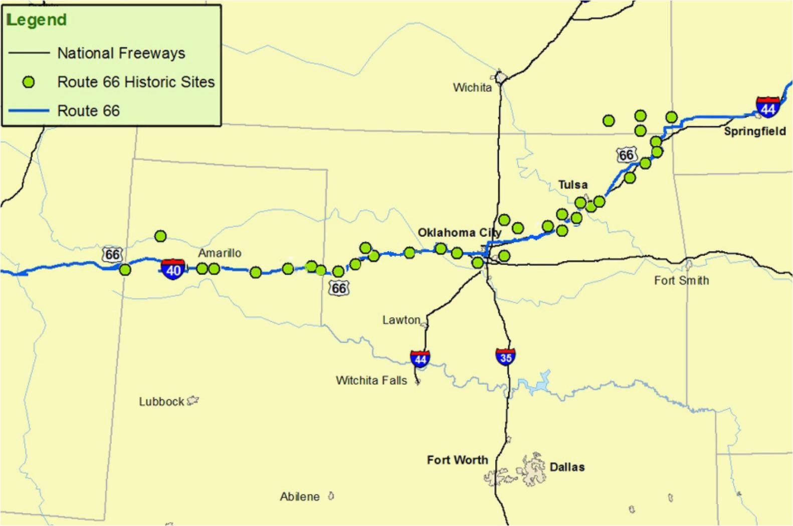map of arizona new mexico texas and oklahoma maps of route 66 plan