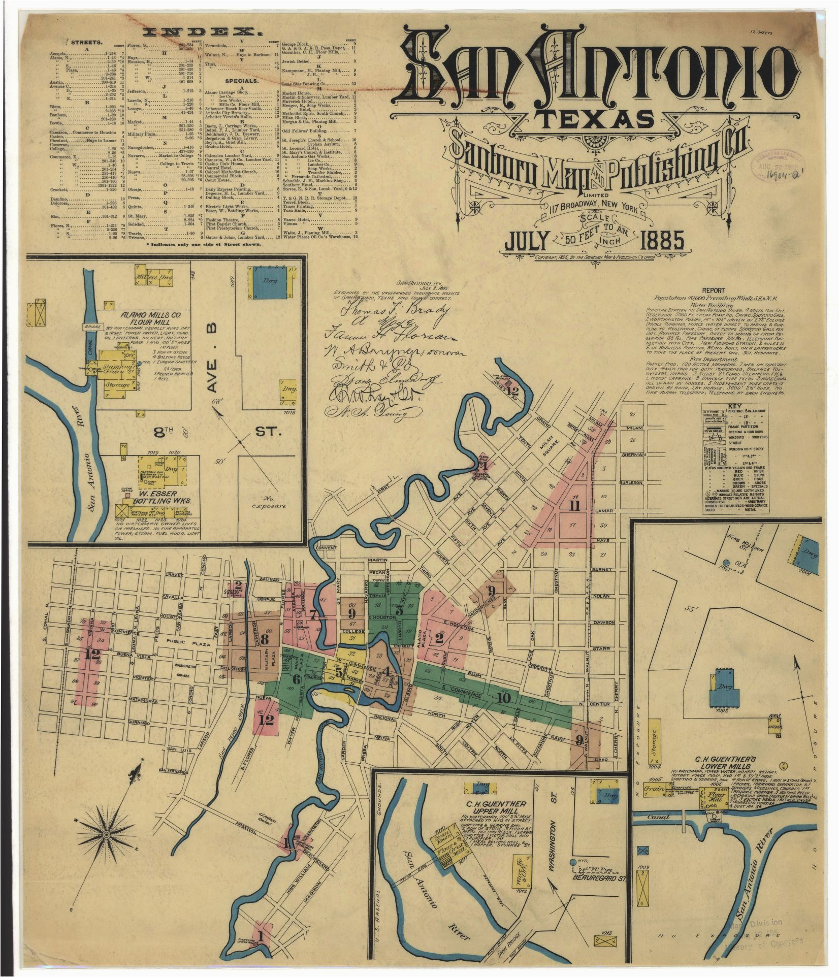 historic maps show what downtown san antonio looked like back in
