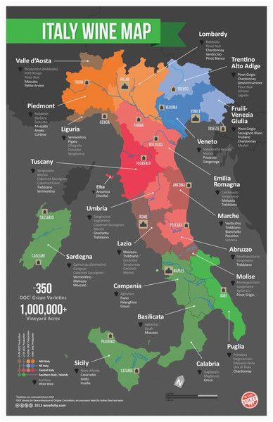 italy wine map food vino italiano mapa de italia vinos