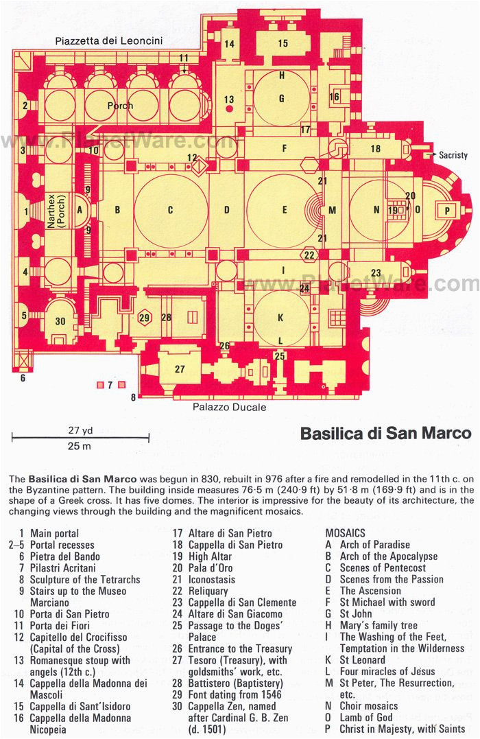 basilica di san marco floor plan map venezia venice saint