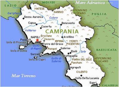 map of campania naples and amalfi coast italy obsessed with