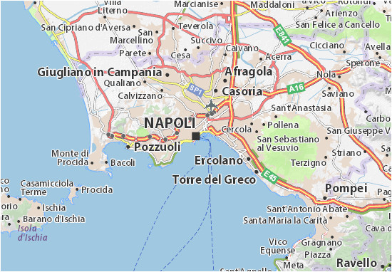map of naples michelin naples map viamichelin